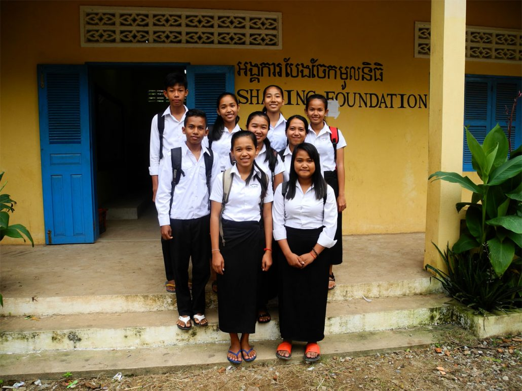 sponsor a high school student the sharing foundation